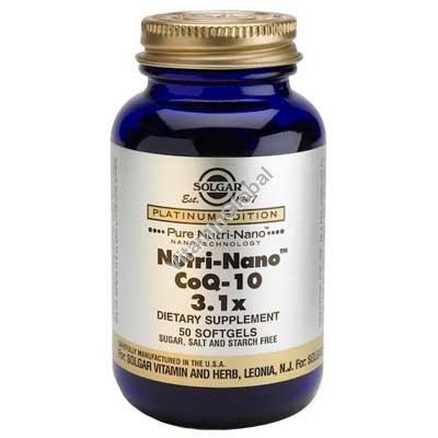 Коэнзим Nutri-Nano CoQ-10 50 капсул - Солгар