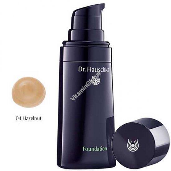 Крем тональный для кожи лица, тон 04 слегка тёмный (оттенок лесной орех) 30 мл - Доктор Хаушка
