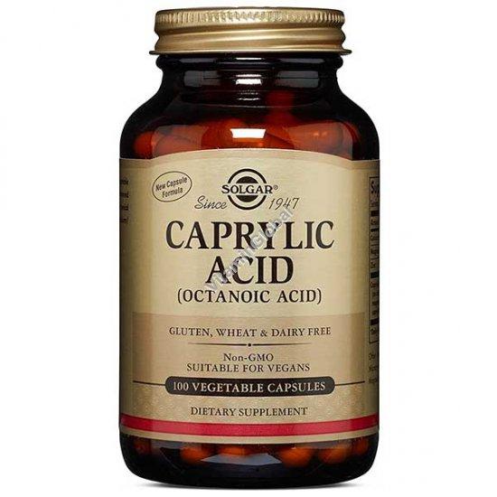 Каприловая кислота 100 вегетарианских капсул - Солгар