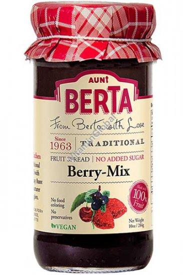 Натуральное варенье ягодный микс без добавления сахара 284 гр - тетя Берта