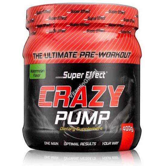 Crazy Pump предтренировочный комплекс вкус арбуза 400 гр - Super Effect