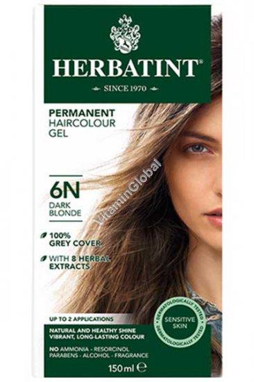 Краска для волос темный блонд 6N - Гербатинт