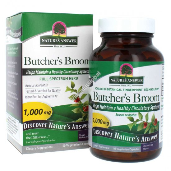 Бутчерс Брум (иглица понтийская) 90 вегетарианских капсул - Nature\'s Answer