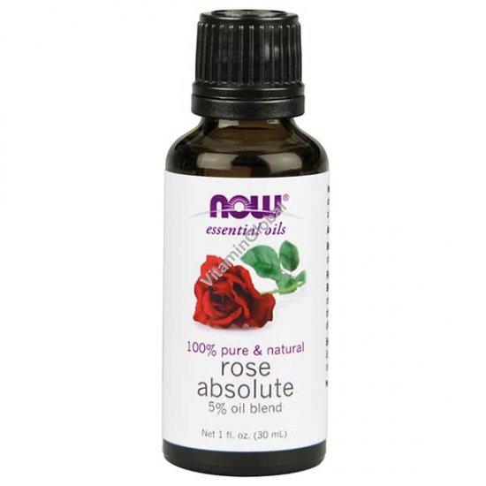 Эфирное масло 5% роза абсолют 30 мл - Now Essential Oils