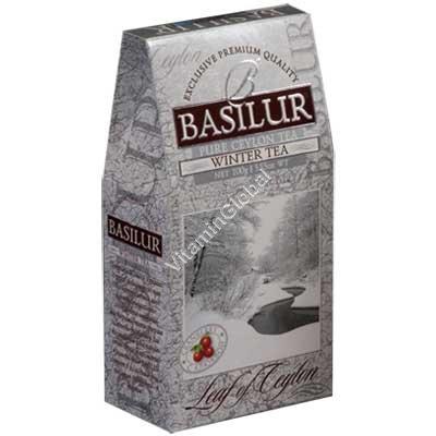 """""""Зимний чай"""" - цейлонский мелколистовой черный чай с клюквой 100 гр - Basilur"""
