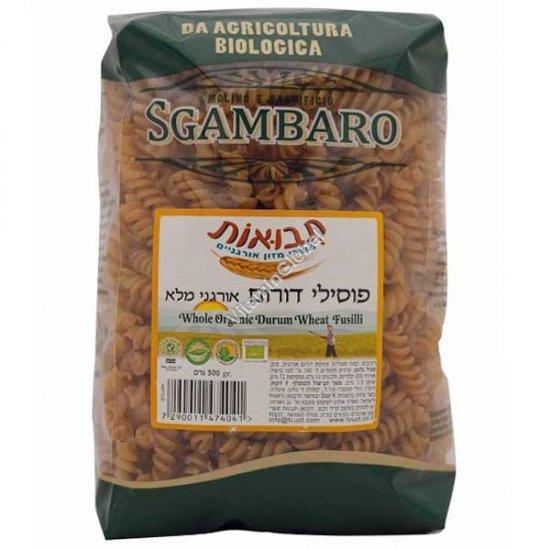 Органические макароны фузили-спиральки из цельной муки 500 гр - Sgambaro