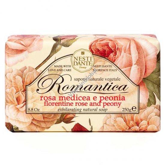 """Натуральное мыло """"Флорентийская роза и пион"""" серии """"Романтика"""" 250 гр - Нести Данте"""