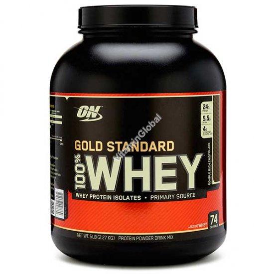 Золотой стандарт - 100% сывороточный протеин со вкусом шоколада 2.270 гр - Оптимум Нутришен