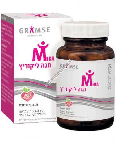 Мега лакрица - экстракт корня солодки 60 растительных капсул - Gramse