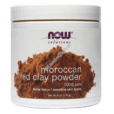 Марокканская красная глина в порошке 170 гр - Now Foods