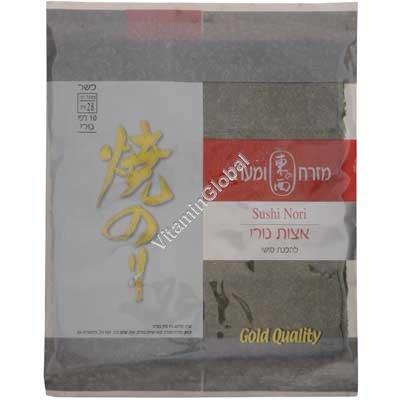 Морские водоросли Нори золотое качество 10 листов - East & West