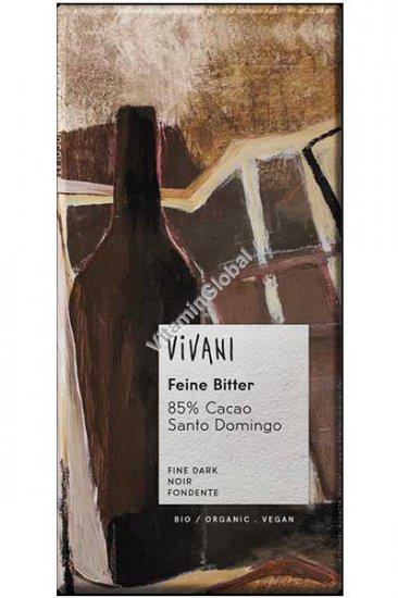 Органический темный шоколад 85% какао 100 гр - Вивани