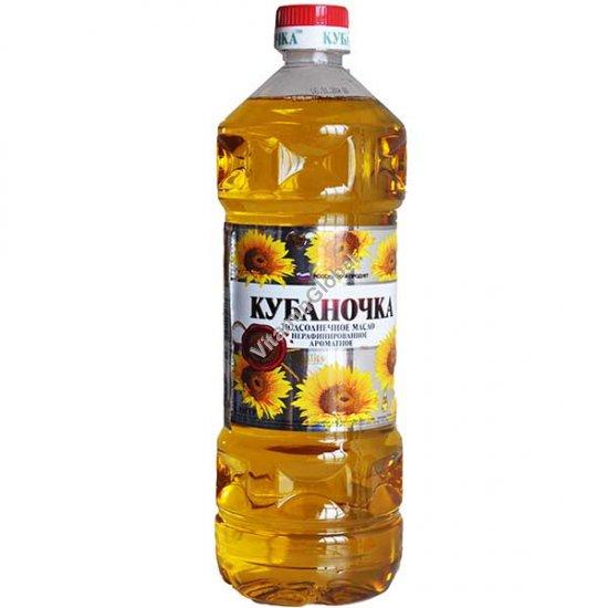 Масло подсолнечное нерафинированное, ароматное 1 литр - Кубаночка