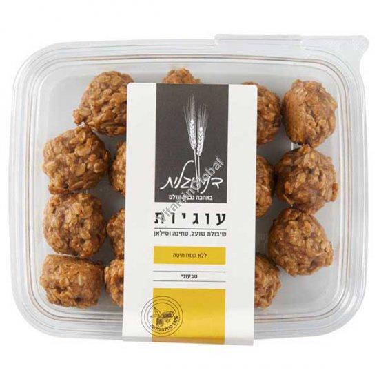 Печенье овсяно-тахинное с кунжутом, черной смородиной, грецкими орехами и финиковым медом 270 гр - Дани и Галит