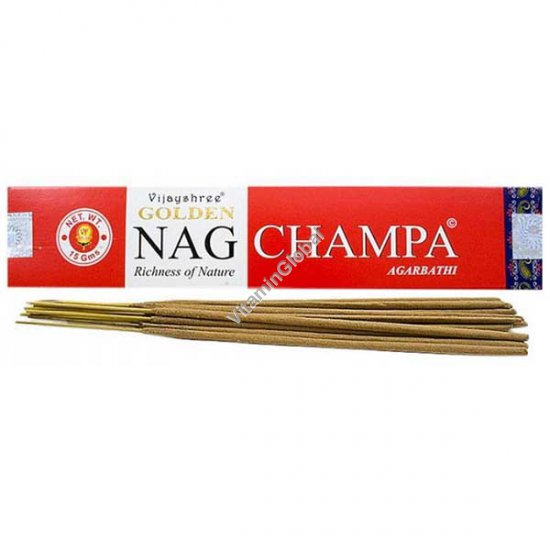 Индийские благовония Голден Наг Чампа 15 гр - Vijayshree Fragrance