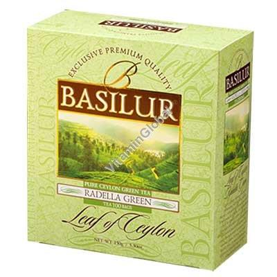 Зеленый цейлонский чай Раделла 100 пакетиков - Basilur