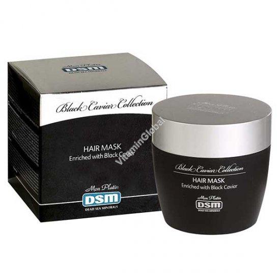 Увлажняющая маска обогащенный черной икрой для восстановления поврежденных и окрашенных волос 250 мл - Мон Платин