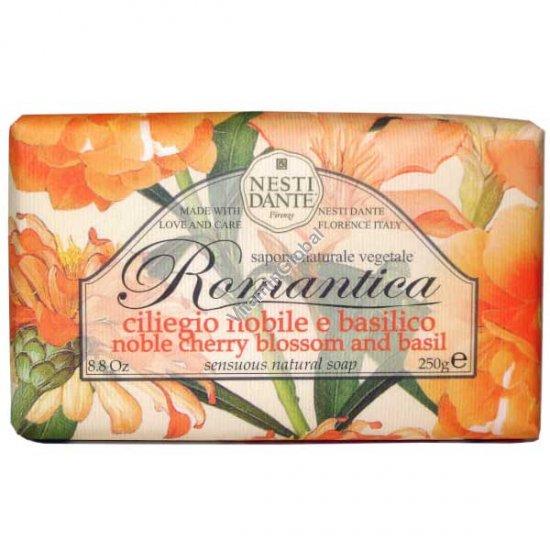 """Натуральное мыло """"Вишневое цветение и базилик"""" 250 гр - Нести Данте"""