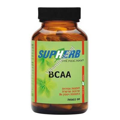 Аминокислоты BCAA 90 капсул - SupHerb