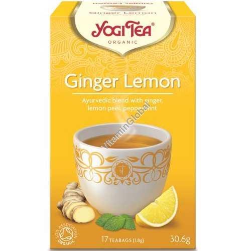 Органический чай с имбирем и лимоном 17 фильтр-пакетиков - Йоги Ти