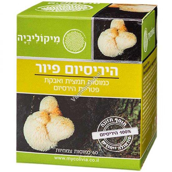 Герициум Пьюр (львиная грива) - экстракт и порошок гриба Гериция 60 растительных капсул - Миколивия