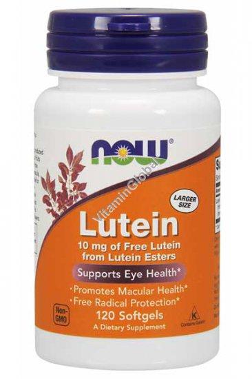 Лютеин 10 мг 120 мягких капсул - NOW Foods