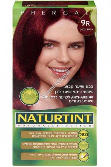 Стойкая краска для волос, цвет глубокий красный 9R - Натуртинт