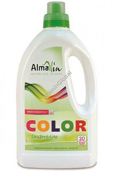 Экологическое жидкое средство для машинной и ручной стирки цветных тканей 1.5 л - AlmaWin