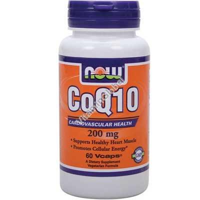 Коэнзим Q10 200 мг 60 вегитарианских капсул - NOW Foods