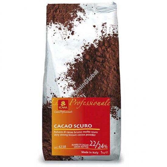 Какао-порошок с содержанием какао-масла 22%-24% 1000 гр - ICAM