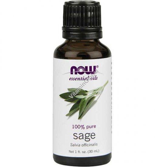 Эфирное масло шалфея лекарственного 30 мл - Now Essential Oils