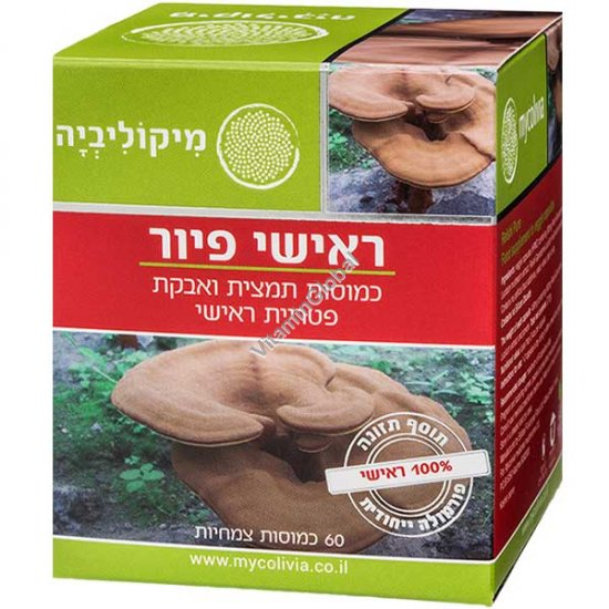 Стандартизированный экстракт грибов рейши 300 мг 60 капсул - Миколивия