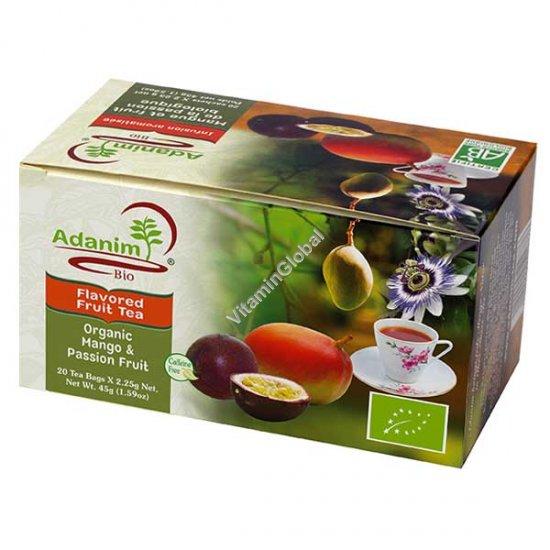 Органический чай манго и пасифлора 20 пакетиков - Аданим