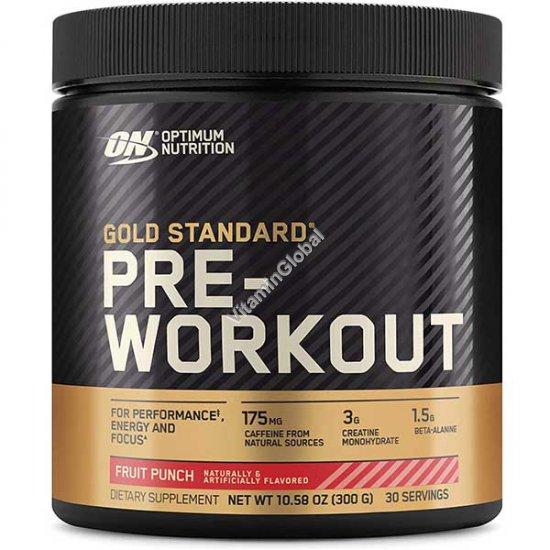 Предтренировочная добавка Gold Standard Pre-Workout с фруктовым вкусом 300g - Optimum Nutrition