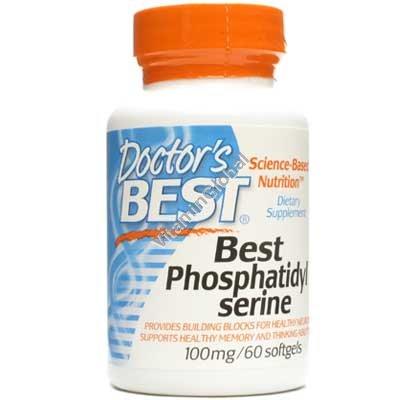 Фосфатидил Серин 100 мг. 60 мягких капсул - Doctor\'s Best