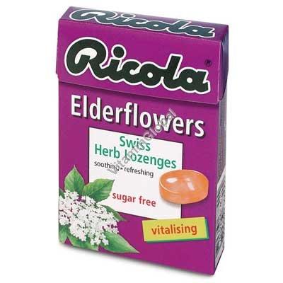 Леденцы без сахара с экстрактами трав и бузиной 50 гр - Рикола