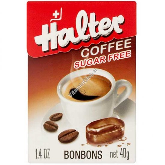 Леденцы без сахара с кофейным вкусом 40 гр - Halter