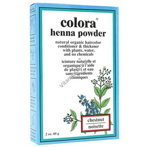 Хна для волос цвет каштановый 60 гр - Colora