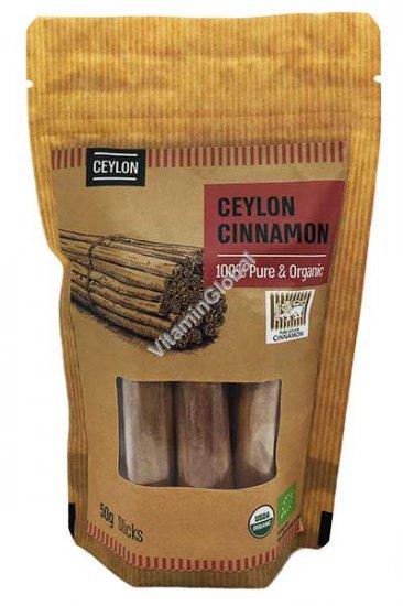 Органическая цейлонская корица в палочках 50 гр - Naturafood