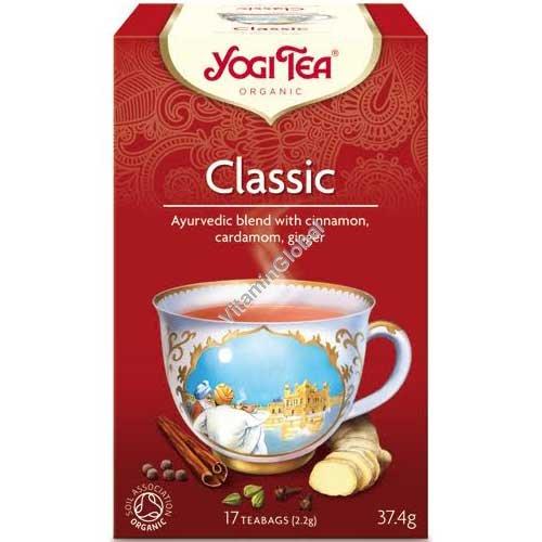 Органический аюрведический чай - Классический с корицей, кардамоном и имбирем 17 фильтр-пакетиков - Yogi Tea