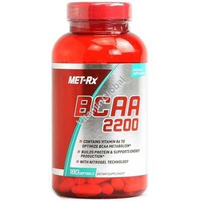BCAA 2200 180 капсул - MET-Rx