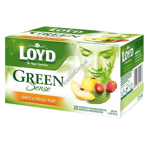Зеленый чай с айвой и опунцией 20 фильтр-пакетиков - Loyd