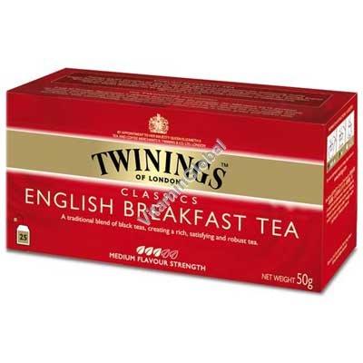 Черный чай English Breakfast 25 пакетиков - Твайнингс
