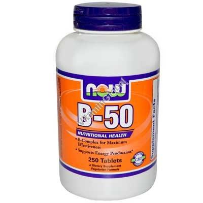 В-50 комплекс 250 таблеток - NOW Foods