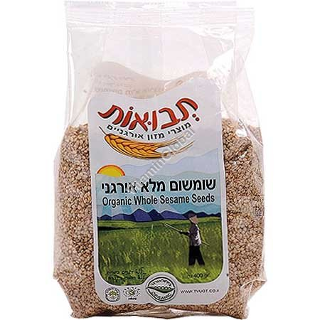 Органическое цельное кунжутное семя 400 гр - Tvuot