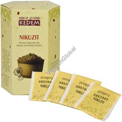 Никузит - сбор органических трав очищающих организм 25 пакетиков - Herbs of Kedem