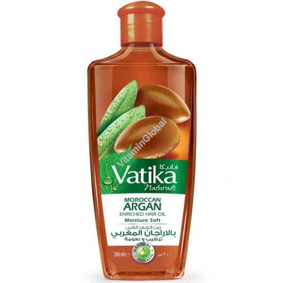 Масло для волос обогащенное марокканским аргановым маслом 200 мл - Vatika
