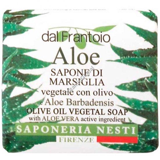Растительное мыло из оливкового масла и экстракта алоэ 100 гр - Нести Данте