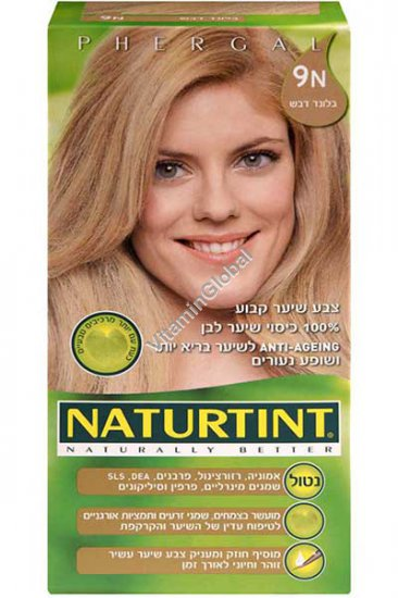 Стойкая краска для волос, цвет светло-медовый 9N - Натуртинт