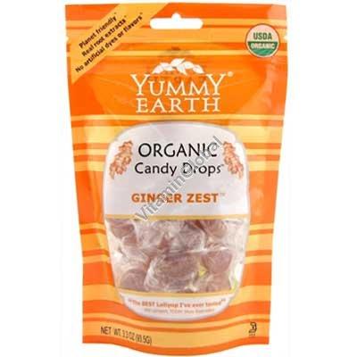 Органические леденцы со вкусом имбиря 93.5 гр - Yummy Earth